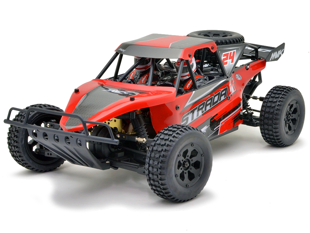 Maverick Strada DT 1/10 Brushless RTR Electric Desert Truck - Red MV12628