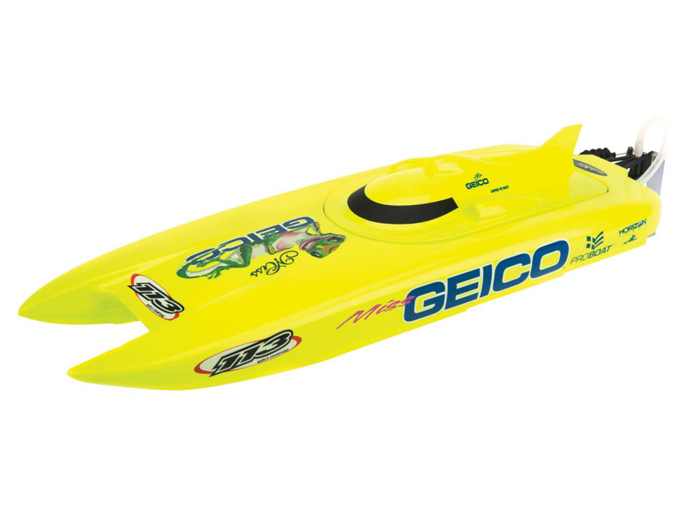 ProBoat Miss Geico 17inch Catamaran Brushed: RTR INT PRB08019I