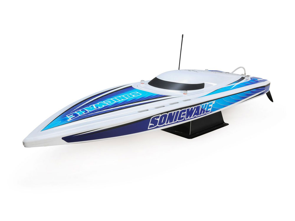 ProBoat Sonicwake 36 Self-Righting Brushless Deep-V RTR - White/Blue PRB08032T1