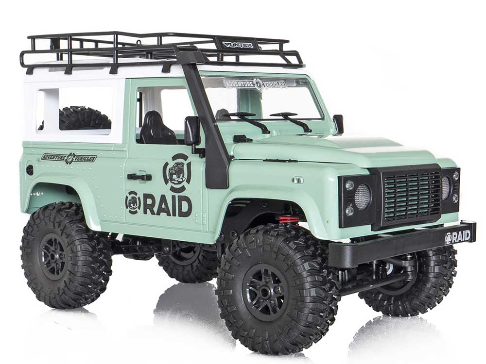 Funtek RAID Adventure 1 Hardtop 1/12th 4WD  Off-Road RTR (Green) FTK-RAID1-GR
