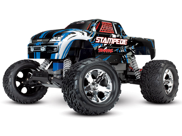 Traxxas Stampede XL-5 2WD with Battery and 12v Charger - BlueX TRX36054-1-BLUEX