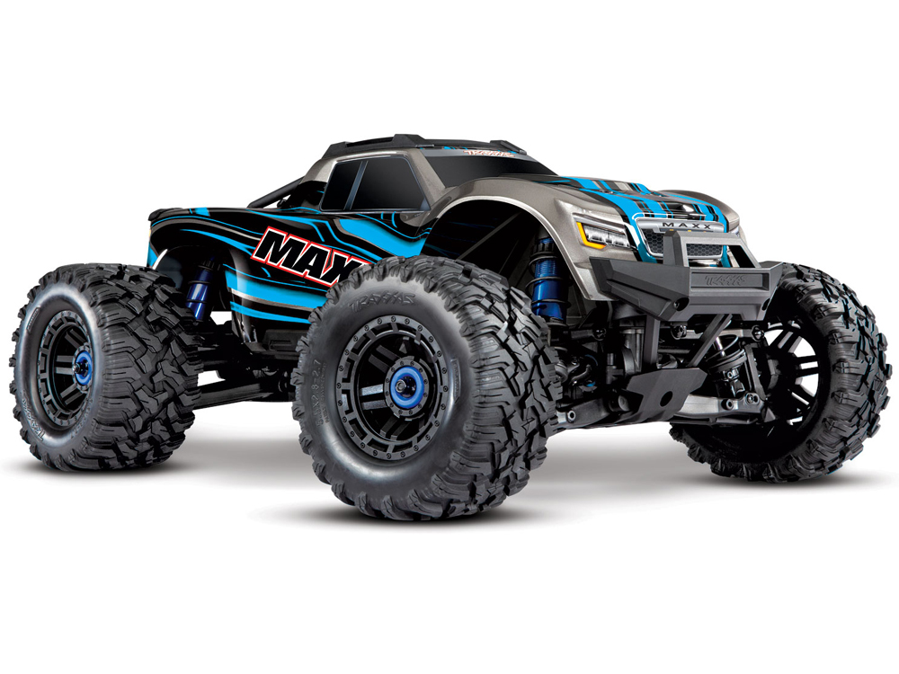 Traxxas Maxx with 4S ESC - 1/10 4WD Brushless Electric Monster Truck - Blue TRX89076-4-BLUE