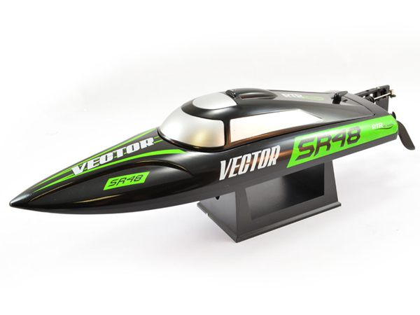 Volantex RC Racent Vector SR48 Brushed Boat RTR - Black V797-3B
