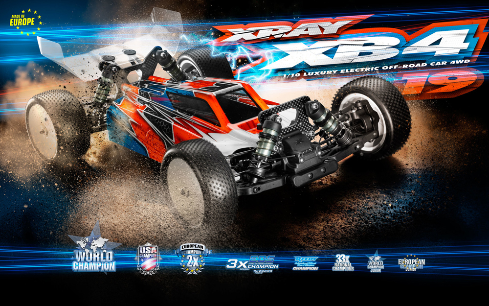 Xray XB4 - 2019 Specs - 4wd Off Road Buggy XR360006