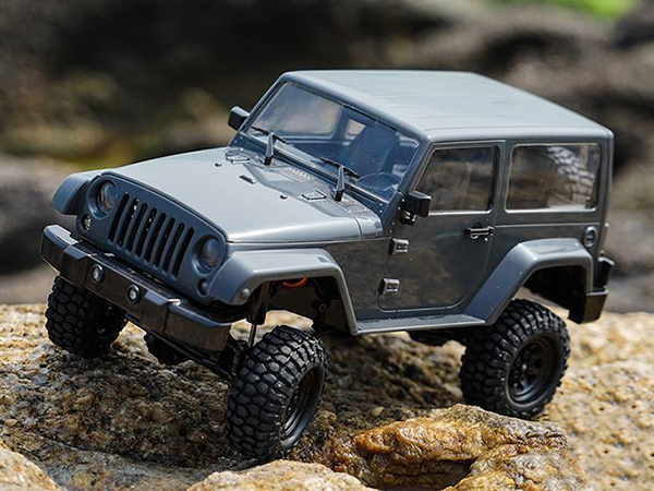 RC4WD 1/18 Gelande II RTR w/ Black Rock Body Jeep - Grey Z-RTR0037