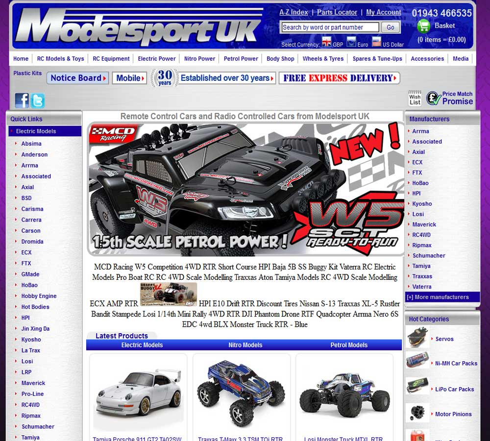 Rc Cars Remote Control And Radio Controlled From Modelsport Mail Order